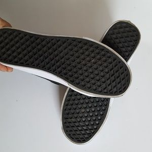 Vans Shoes - Vans high top black faux leather sneakers size 9